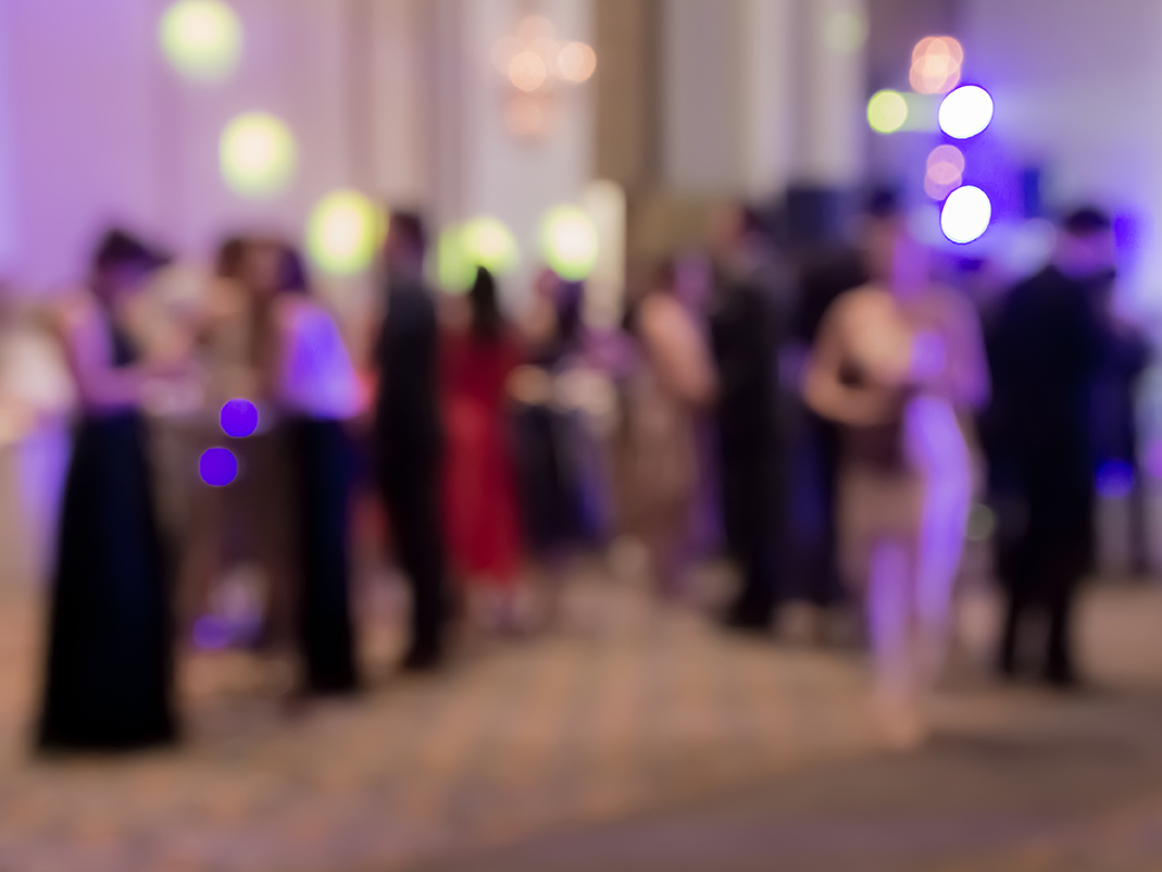 Abstract photo of guests at gala event